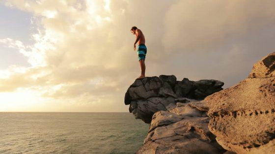 solo cliff jump